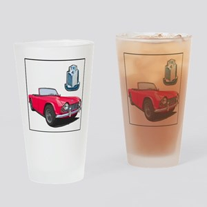 TR4red-4 Drinking Glass