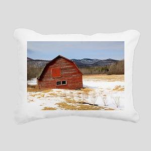The Old Keene Barn Rectangular Canvas Pillow