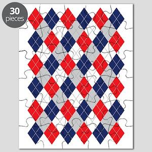 Norwegian Curling Argyle pattern Puzzle