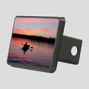 Kayaking at Sunset Rectangular Hitch Cover
