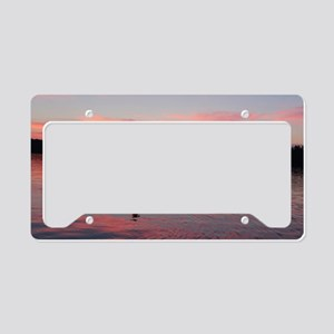 Kayaking at Sunset License Plate Holder