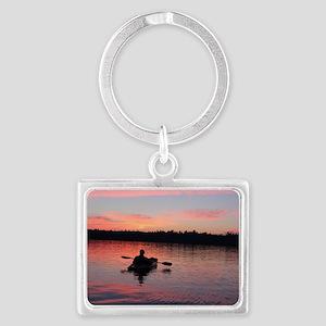 Kayaking at Sunset Landscape Keychain
