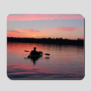 Kayaking at Sunset Mousepad