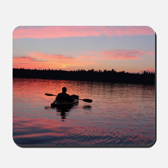 Kayaking at Sunset Mousepad