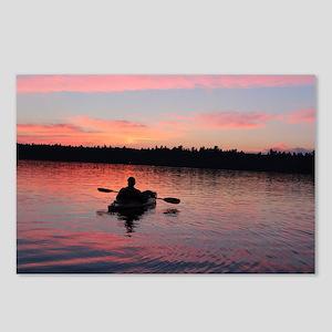 Kayaking at Sunset Postcards (Package of 8)