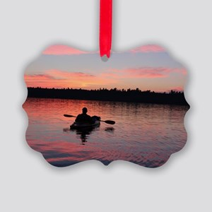 Kayaking at Sunset Picture Ornament