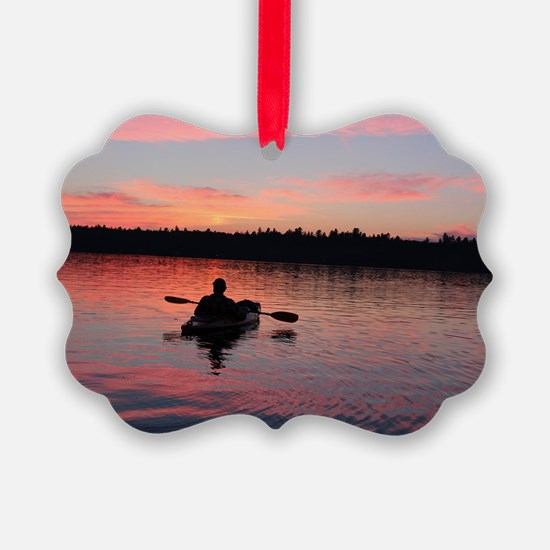 Kayaking at Sunset Ornament