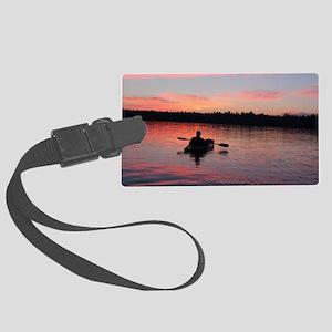 Kayaking at Sunset Large Luggage Tag