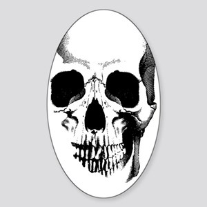 skull-face_bl Sticker (Oval)