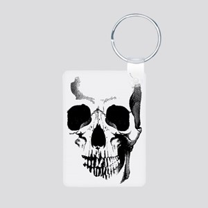 skull-face_bl Aluminum Photo Keychain