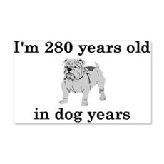 40 birthday dog years bulldog 2 Wall Decal