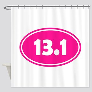 Pink 13.1 Oval Shower Curtain