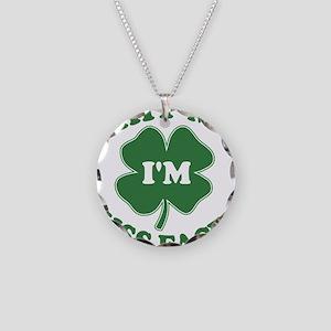SHITMEIMKISSFACED-WHITE Necklace Circle Charm