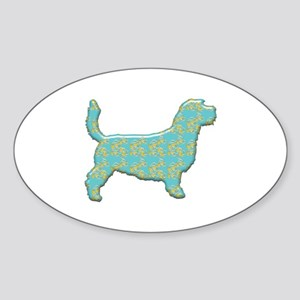 Paisley Griffon Oval Sticker