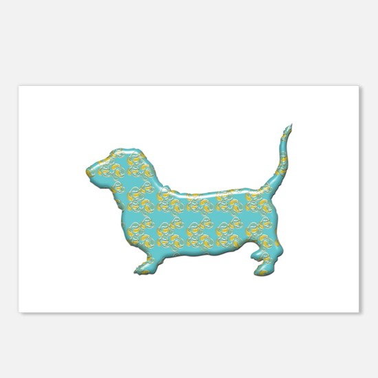 Paisley Basset Postcards (Package of 8)