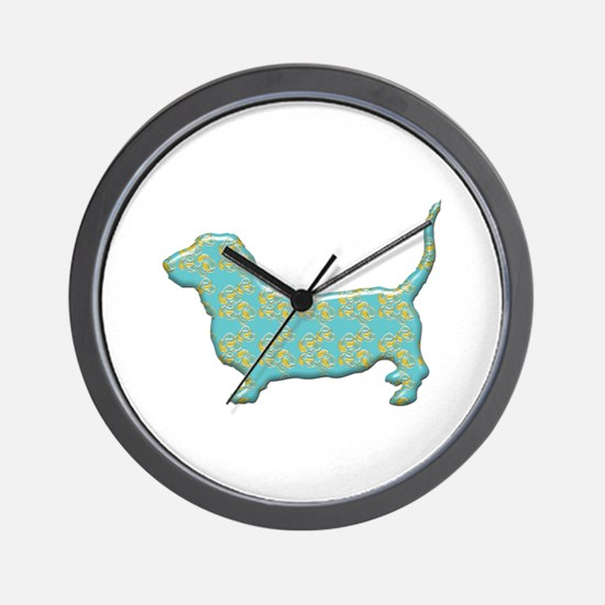 Paisley Basset Wall Clock