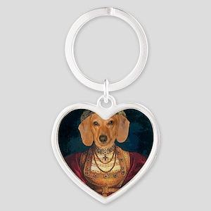 med evil lady tiger 12x16 Heart Keychain