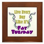 Fat Tuesday Framed Tile