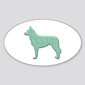 Paisley Malinois Oval Sticker