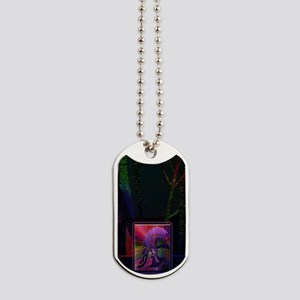 Spartan Soldier Tree Trunk Clrful Lights  Dog Tags