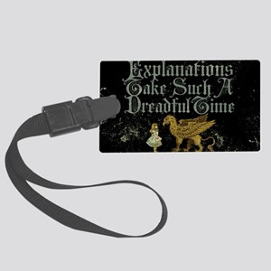 alice-explanations_9x12 Large Luggage Tag