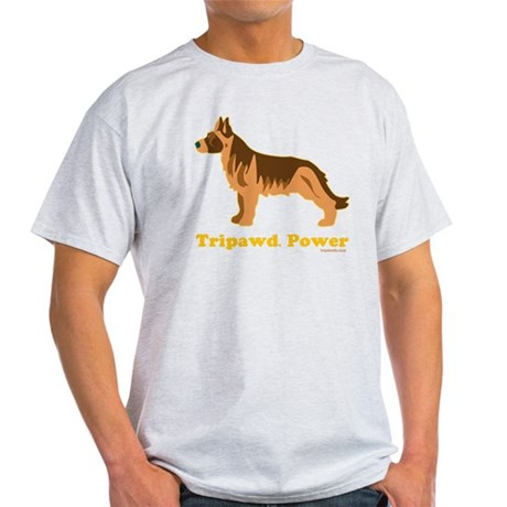Tripawd Power Three Legged GSD 10x10 Light T-Shirt