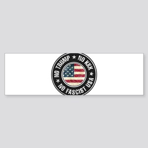 No Trump No KKK No Fascist USA Bumper Sticker