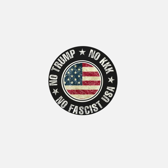 No Trump No KKK No Fascist USA Mini Button