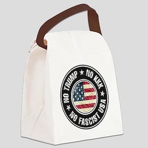 No Trump No KKK No Fascist USA Canvas Lunch Bag