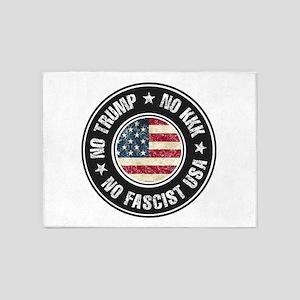 No Trump No KKK No Fascist USA 5'x7'Area Rug