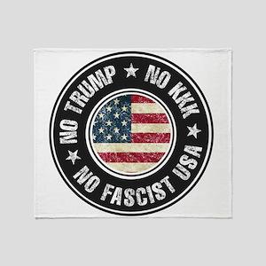 No Trump No KKK No Fascist USA Throw Blanket