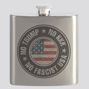 No Trump No KKK No Fascist USA Flask