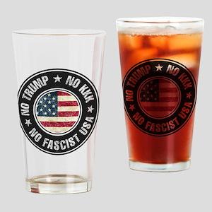 No Trump No KKK No Fascist USA Drinking Glass