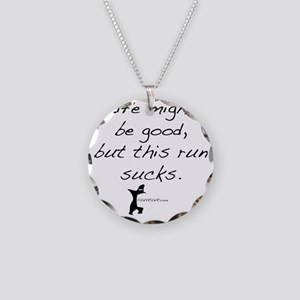 life Necklace Circle Charm