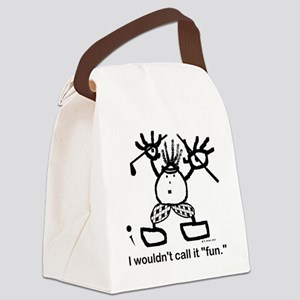 I wouldnt call it fun. Canvas Lunch Bag