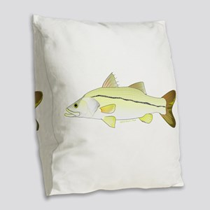 Common Snook Burlap Throw Pillow