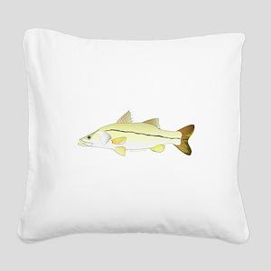 Common Snook Square Canvas Pillow