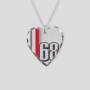 68redwhite Necklace Heart Charm