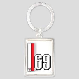 69redwhite Portrait Keychain