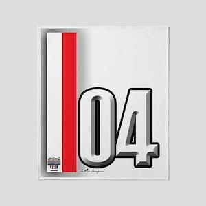04redwhite Throw Blanket