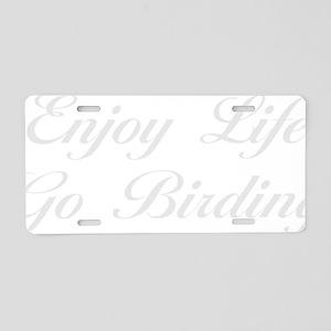 birdingScW Aluminum License Plate