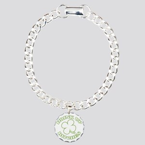 drink up white Charm Bracelet, One Charm
