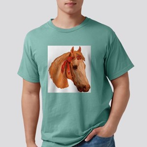 white horse red ribbon Mens Comfort Colors Shirt