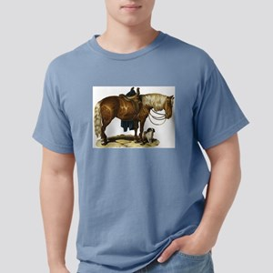 Horse and dog Mens Comfort Colors Shirt