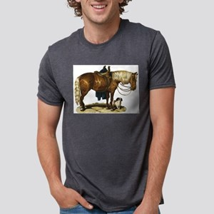 Horse and dog Mens Tri-blend T-Shirt