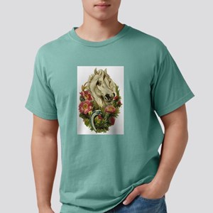 White horse and flowers Mens Comfort Colors Shirt