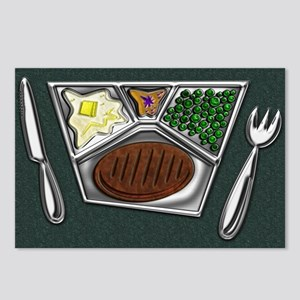 4-TV Dinner Tray Cooked F Postcards (Package of 8)