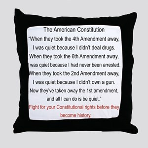 Fight for your constitutional rights  Throw Pillow