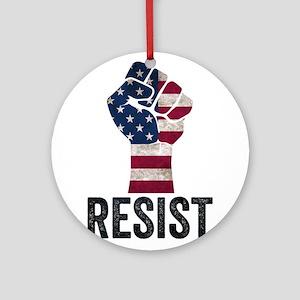 Resist Anti Trump Round Ornament