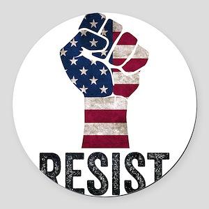 Resist Anti Trump Round Car Magnet